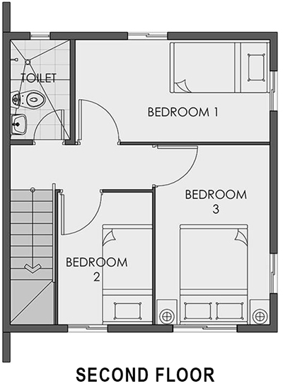cara second floor plan