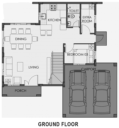 camella homes greta ground floor plan