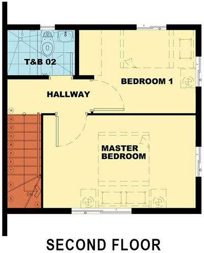 camella homes bella second floor plan